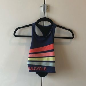SoulCycle racerback crop top sports bra